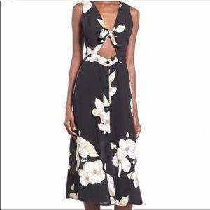 Leith Tie Front Floral Button Down Dress.